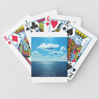 Rays over the Sea Bicycle Playing Cards