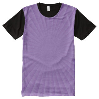 Rays round gradients - light lilac + your ideas All-Over print T-Shirt
