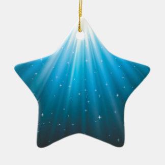 Rays Sun beam inspirational Ceramic Star Decoration
