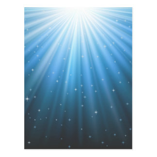 Rays Sun beam inspirational Postcard