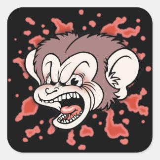 Raz Putin, The Mad Monkey Square Sticker