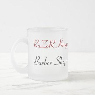 RaZoR Kingz Barber Shop Promotional Frosted Glass Mug