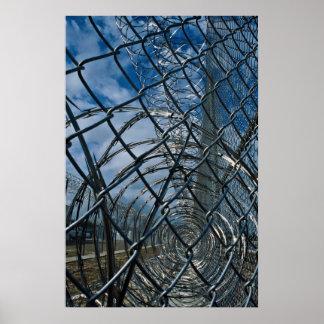 Razor wire prison poster