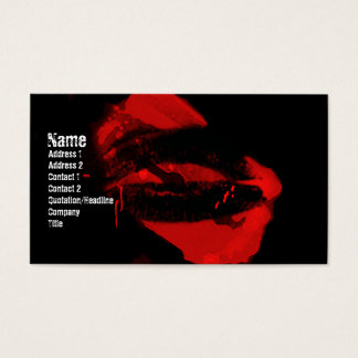 Razorblade Kisses Gothic Business Card