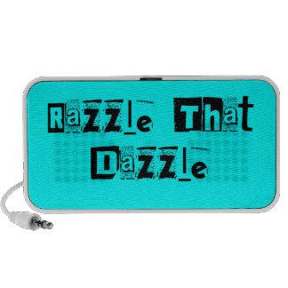Razzle That Dazzle Text- Blue Mini Speaker