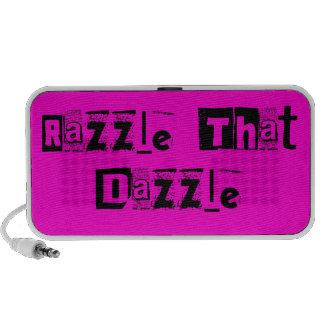 Razzle That Dazzle Text- Pink Speakers