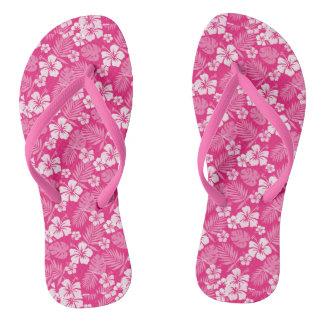 Razzmatazz Pink Hawaiian Flip Flops