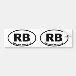 RB Redondo Beach Bumper Sticker