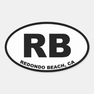RB Redondo Beach oval Oval Sticker