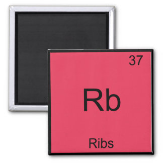 Rb - Ribs Chemistry Element Symbol Funny Square Magnet