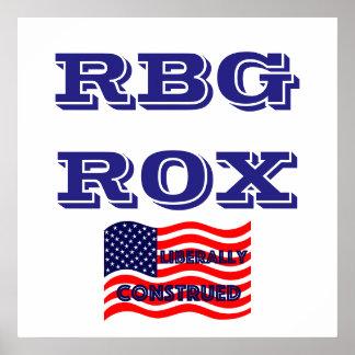 RBG ROX Ginsburg Liberal Democrat Democratic Party Poster