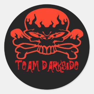 rbskull, TEAM DARKSIDE Classic Round Sticker