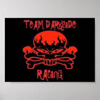 rbskull TEAM DARKSIDE RACING Posters