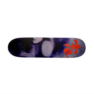 RC5 BLACK SKULL SKATEBOARD DECK