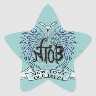 RC Airplane Club Vintage Star Sticker