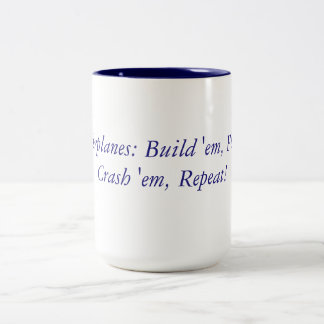 RC Airplanes Mantra Two-Tone Coffee Mug