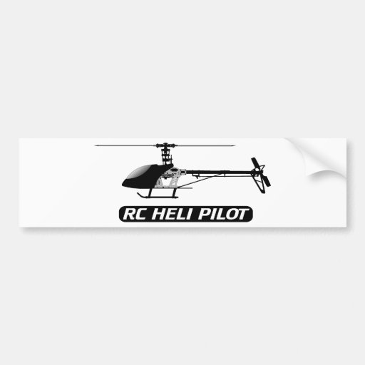 RC Helicopter Pilot Bumper Sticker