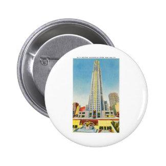 RCA Building, Rockefeller Centre, New York Button