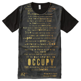 RCC OCCUPY GOLD PRINT All-Over PRINT T-Shirt