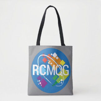 RCMQG Logo Tote Bag--Gray
