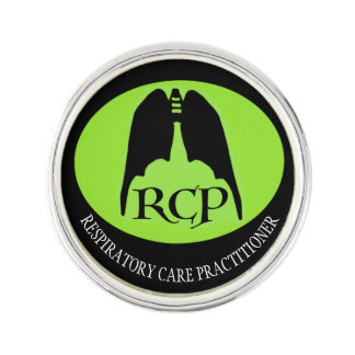 RCP RESPIRATORY BAT LUNGS by Slipperywindow Lapel Pin