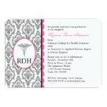 RDH Graduation Dental Hygienist Hygiene damask 13 Cm X 18 Cm Invitation Card