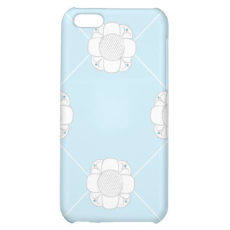 RDP white flowers on blue Cover For iPhone 5C