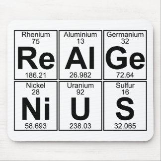 Re-Al-Ge-Ni-U-S (real genius) - Full Mouse Pad