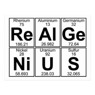 Re-Al-Ge-Ni-U-S real genius - Full Post Card