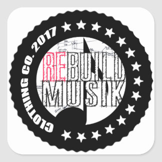 Re-Build Clothing Co. Square Sticker
