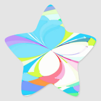 Re-Created Butterflies Star Stickers