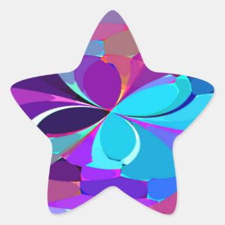 Re-Created Butterflies Star Sticker