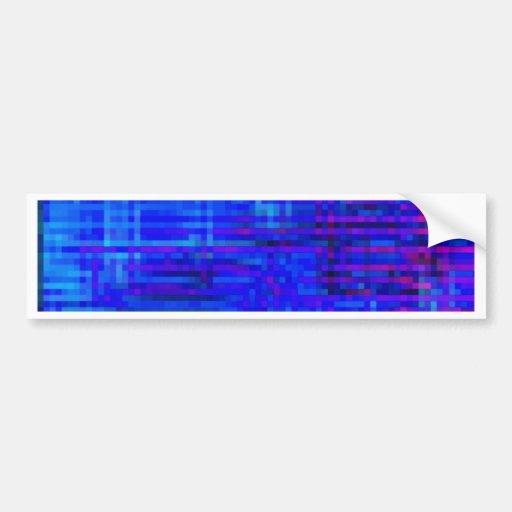 Re-Created Checks Bumper Sticker
