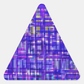 Re-Created Checks Triangle Sticker