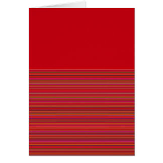 Re-Created Color Field & Stripes by Robert S. Lee Greeting Card