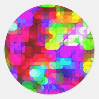 Re-Created Laurels Round Stickers