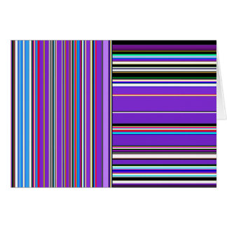 Re-Created Lines & Stripes by Robert S. Lee Greeting Card