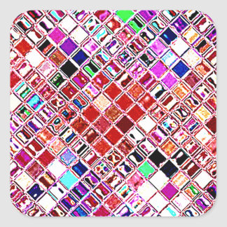 Re-Created Mosaic Square Sticker