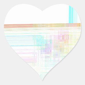 Re-Created Northern Cross Heart Sticker