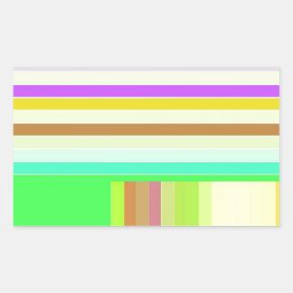 Re-Created Parquet Rectangular Sticker