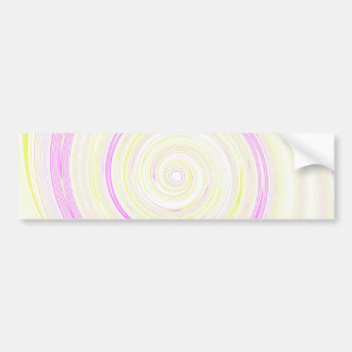 Re-Created Spin Painting Bumper Sticker