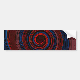 Re-Created Spin Painting Car Bumper Sticker