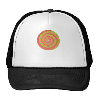 Re-Created Spin Painting Mesh Hats