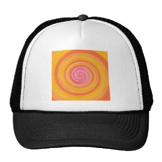 Re-Created Spin Painting Cap