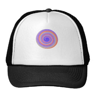 Re-Created Spin Painting Trucker Hats