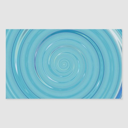Re-Created Spin Painting Rectangular Stickers