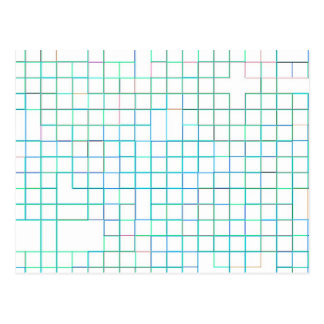 Re-Created Squares Postcard
