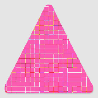 Re-Created Squares Triangle Sticker