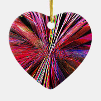 Re-Created Supernova by Robert S. Lee Ceramic Heart Decoration