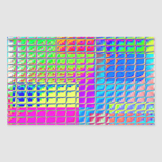 Re-Created Swatches Rectangular Stickers